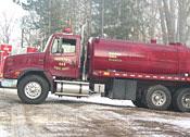 Freightliner 3200 gallon tanker
