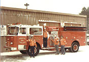 Engine 641 at Station with Officers