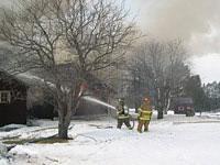 Hose practice live house burn