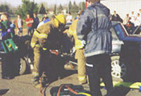 Mock drill at Prentice High School