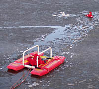 Fire Rescue EMS Ice Rescue Practice