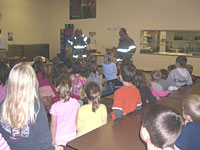 Fire Dept training at Prentice School